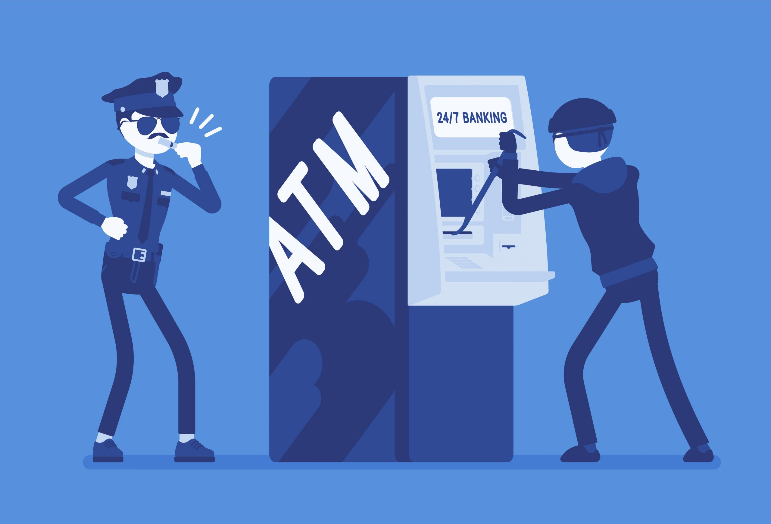 physical ATM attacks