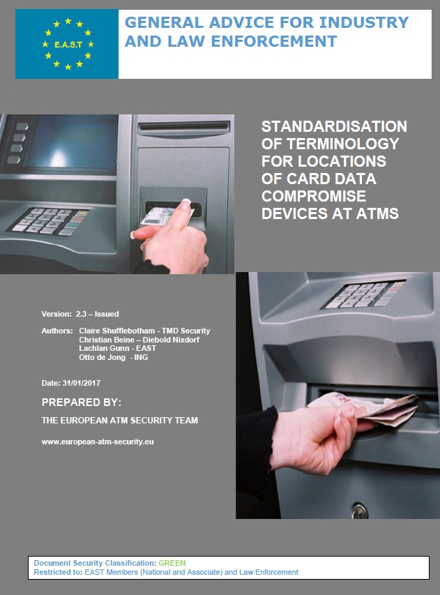 Terminology for locations of CDC Devices at ATMs and ATM Fraud Definitions