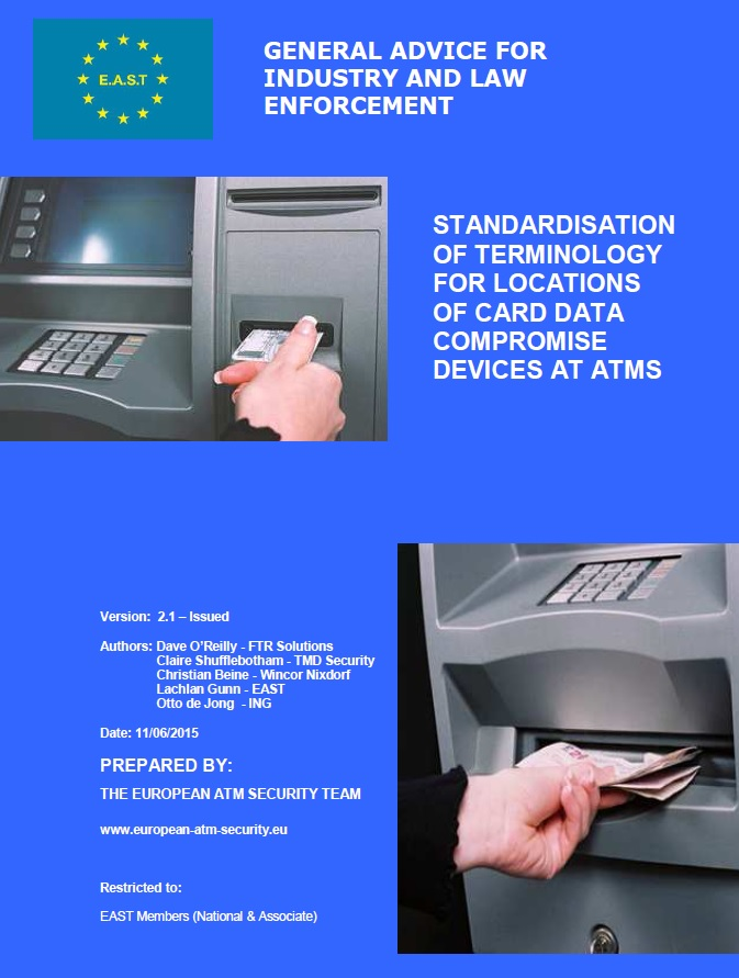 Standardisation of Terminology for Locations of Card Data Compromise Devices at ATMs